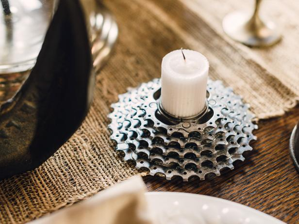 How to Make Bicycle Gear Votive Holders